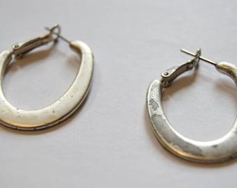 Vintage silver hoops