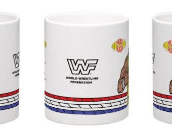 WWF WWE Hulk Hogan Retro Wrestling Mug Kilncraft Style Custom Series 2