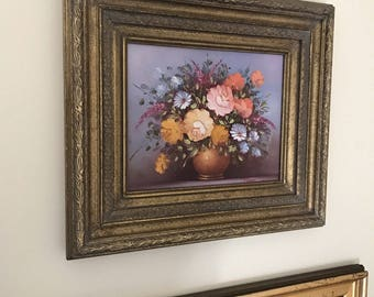 Robert Cox Signed Floral Still Life Oil Painting