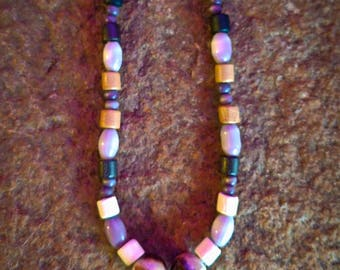 Boho Hematite Peace Choker Necklace
