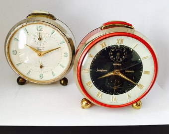 JUNGHANS TRIVOX Silentic  and Junghans Trivox Vintage Table Clock 2 for 1
