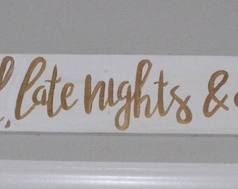 Hand Painted Plaque with Customizable Wording