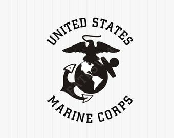 Marine Logo svg - Untied States Marine Corps Svg - svg, dxf, eps, png, Pdf - Download - Cut File, Cricut Explorer - Silhouette Cameo