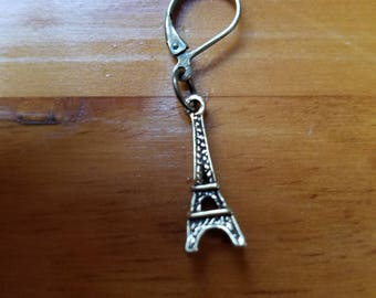 Bronze Eiffel Tower Earrings