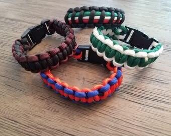 Custom Paracord Survival Bracelets