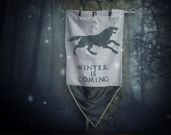 House Stark Banner - Game of Thrones Sigi