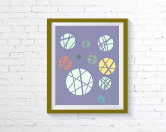 Minimalist Circles, Abstract art, Digital print, Downloadable file, Wall Art