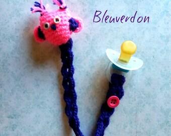 Crochet amigurumi OWL pacifier
