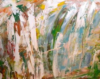 Acrylic abstract handmade painting