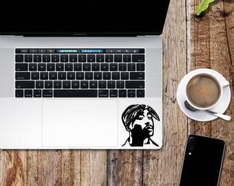 2pac sticker etsy tupac decal 2pac shakur glitter sticker for laptop macbook car notebook voltagebd Choice Image