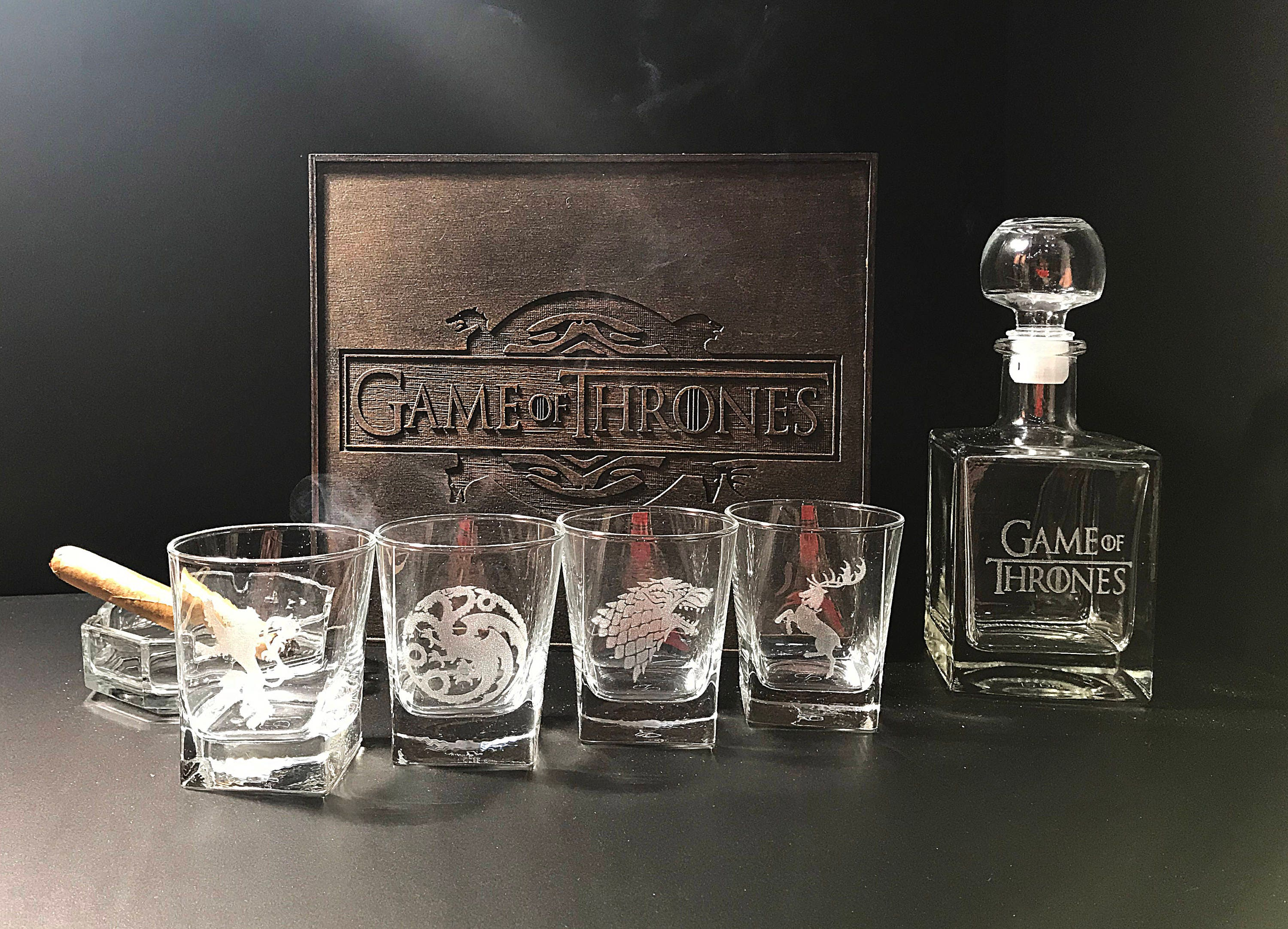 Game of thrones gift whiskey decanter set personalized for Game of thrones gifts for men