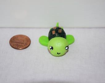 Sea Turtle Charm | Polymer Clay | Kawaii | Necklace Charm