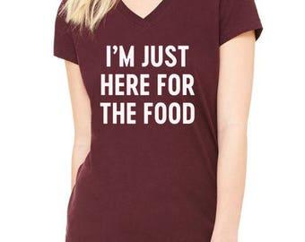 Thanksgiving Shirt, Funny Thanksgiving Shirt, Fall Shirt, Grateful, Blessed Shirt, Pumpkin, Im Just Here for the Food