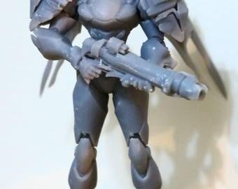 80mm Pharah figurine - Overwatch
