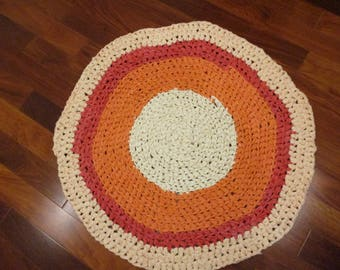 Orange DreamCicle Rag Rug