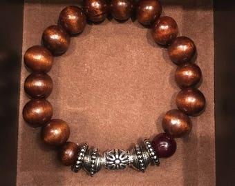 Brown Bead Bracelet