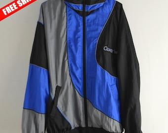 Windbreaker vintage Men S M 90s windbreaker Vintage Windbreaker 90s jacket Bomber jacket Windbreaker 90s Vintage sport Sports style