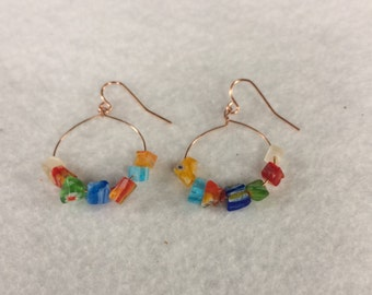 e18 - Classy glassy earrings