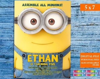 Minion Invitation, Minion Birthday Invitation, Minion Birthday, Minion Birthday Printables, Minions, Minion Party, Minion