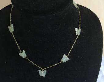 Stunning New Jade Butterfly Necklace