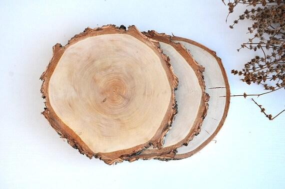 30 31cm tranches de bois bouleau rondelles de bois rondin de. Black Bedroom Furniture Sets. Home Design Ideas