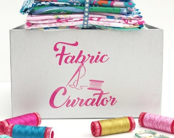 Fabric Curator Vinyl Decal Sticker Quilter Quilting Accessories Accessory Adhesive Removable Sewing Craft Fabric Curator Sewing Room Decal