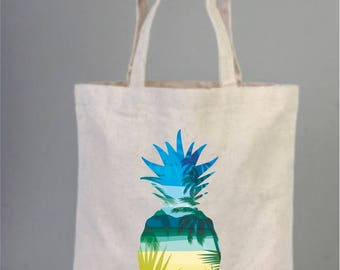 Aloha, Pineapple Bags, Wedding Welcome Tote Bag, Bridesmaid gifts, Wedding Favors,  Bridal Shower, Cotton Bag, Beach Party Bags