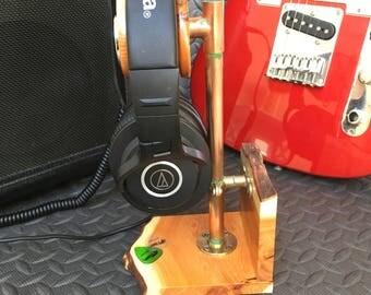 Yew Hardwood Headphone stand