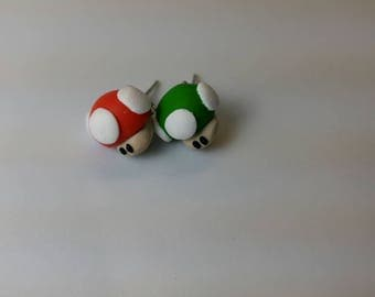 Red and Green Toadstool Set
