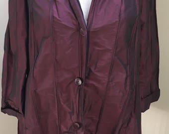 Plum Silk Dress/Jacket