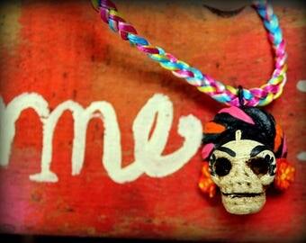 Collar Catrina Día de muertos. Necklace Catrina Day of the deads.