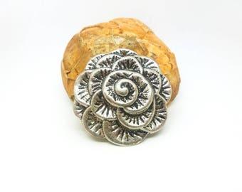 1 light pendant Fleur 38 mm antique silver (XBA09)