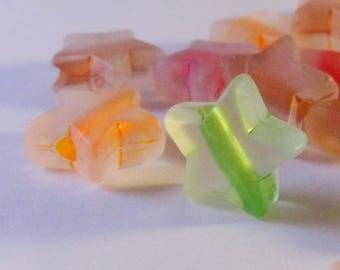 25 beads 10mm star polaris colours