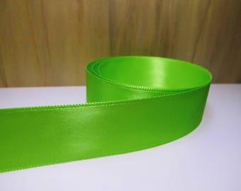 3 m Ribbon 25mm satin green-(rsve325b)