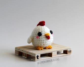 Baby Rooster Chichen Crochet Amigurumi Plush
