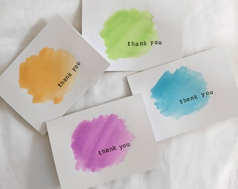 Original Watercolor Thank You Cards - Pack of 8