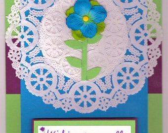 Get Well Card - Paper Doily