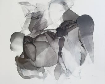 charcoal abstract design
