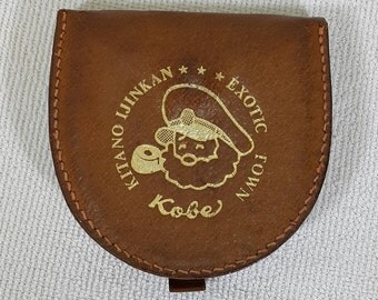 KITANO IJINKAN Exotic Town Handmade Genuine Leather Little Pouch