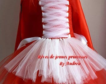 Tutu dress, fairy tales, little Red Riding Hood costume. 2-8 years.