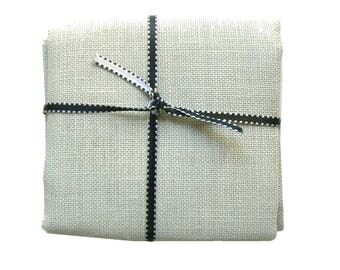 50 x 70 CM Linen yarn gray Pearl canvas 12 embroidery cross stitch