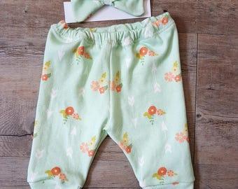 Mint Floral Leggings