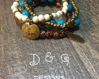 Handcrafted Stackable Bracelet Set