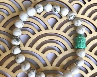 Howlite + Mint Buddha