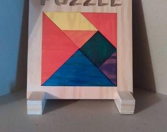 """Frame puzzle / puzzle: """"Tangram"""""""