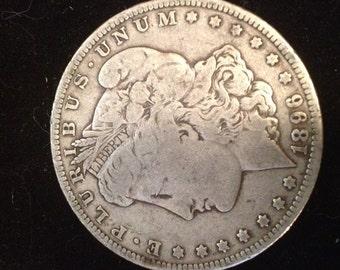 Morgan silver dollar 1896