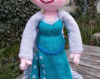 KNIT/CROCHET pdf tutorial/pattern: doll ELSA, frozen
