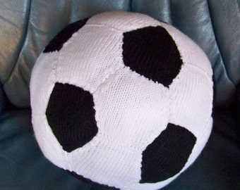 soccer ball is hand knitted