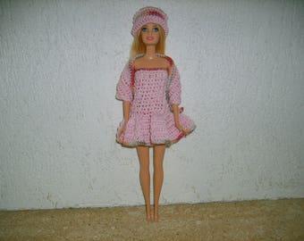 Whole dress, shawl, crochet doll Hat