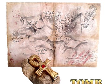 Replicas: Amulet of Horus Lara Croft tomb raider The last revelation + card Lara Croft and the temple of Osiris.